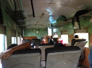 Inside the old coach